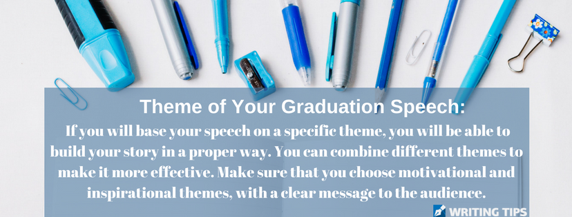 8th grade graduation speech theme writing