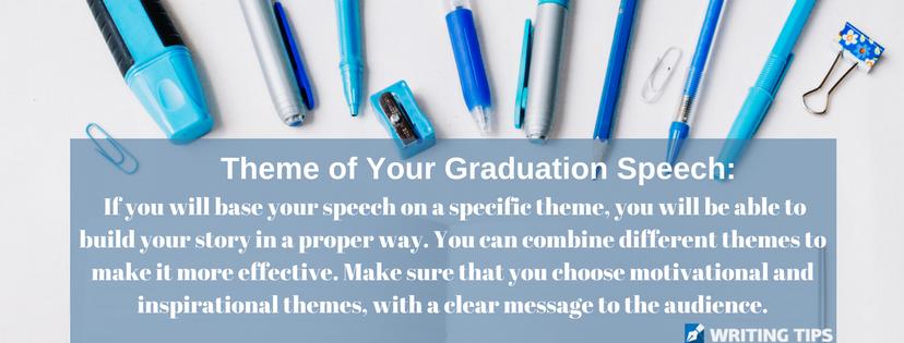 8th grade graduation speech theme writing