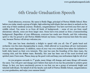 6th grade graduation speech